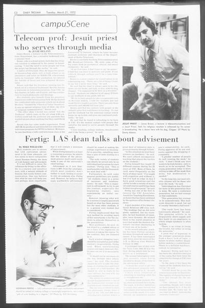 Daily Trojan, Vol. 64, No. 93, March 21, 1972