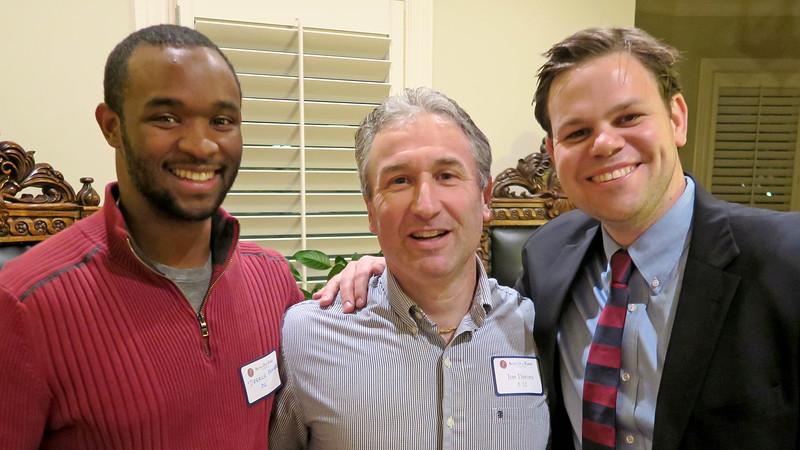 National Council Member Derrick Barker '06, Jim Detora P'12 and Peter Theis '06