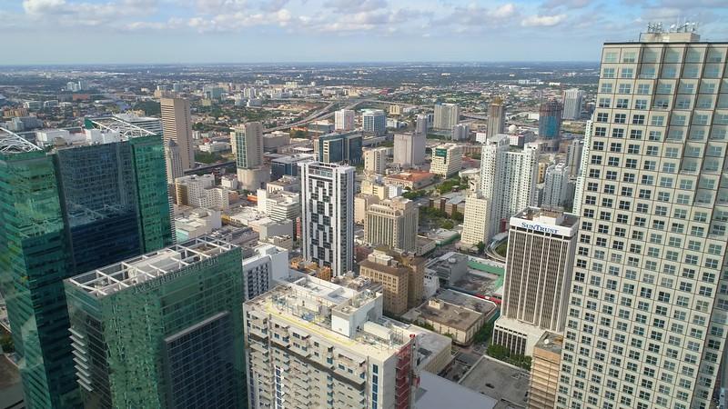 Stock cinema footage Downtown Miami Bayfront Park