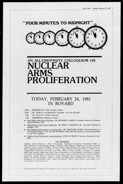 Daily Trojan, Vol. 90, No. 14, February 24, 1981