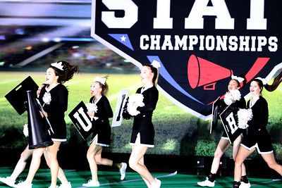 HHS Cheerleaders at UIL Spirit State Championship, 1/16/2021