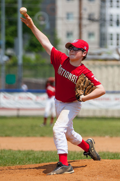 Christopher gets another strike out in the bottom of the 5th inning. The bats of the Nationals were supported by a great defensive outing in a 11-4 win over the Twins. They are now 7-3 for the season. 2012 Arlington Little League Baseball, Majors Division. Nationals vs Twins (13 May 2012) (Image taken by Patrick R. Kane on 13 May 2012 with Canon EOS-1D Mark III at ISO 400, f4.0, 1/4000 sec and 210mm)