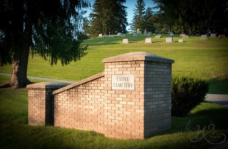 Clove Cemetery Entrance