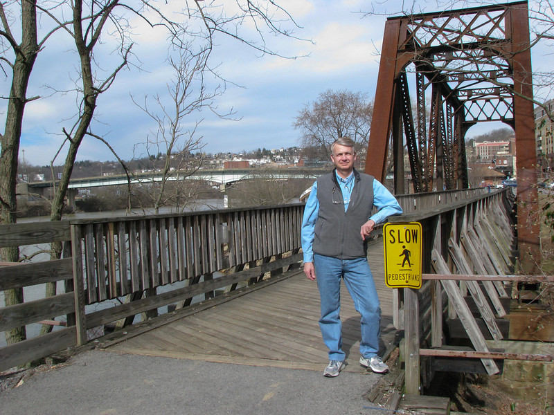 He out taking a walk after training in Morgantown WV in March of 2008.