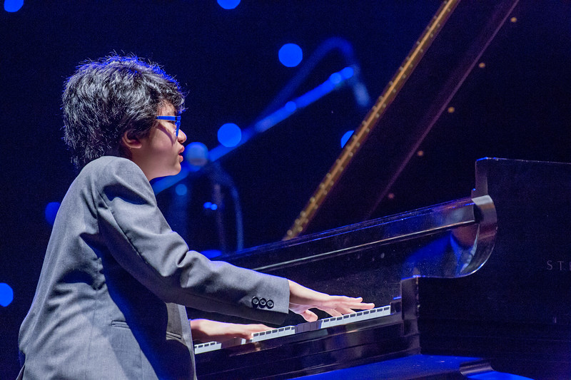 2016 Festival of the Arts BOCA presents Joey Alexander Trio DAN CHMIELINSKI, bass, KYLE POOLE, drums with The Symphonia & Constantine Kitsopoulos, conductor