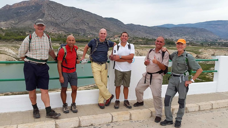 On the Orxeta dam wall section of our Orcheta circuit hike