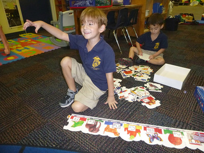 PreK Week 7 Measuring, Spanish Lesson, Mat Man, Exercising with Coach Pete, and PreK First Grade Buddies  Van Gogh lesson with Mrs. Gormley