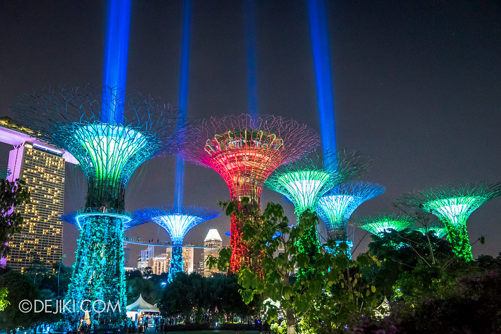 Gardens by the Bay - Star Wars Day 2017 - Garden Rhapsody SaberTrees 2