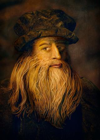 20/5/19 - Bella Italia - Leonardo Da Vinci food portrait