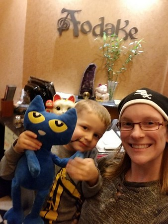 Elliot with Pete the Cat