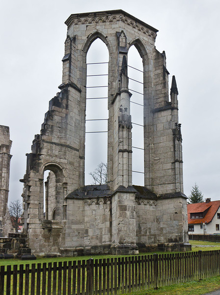 Walkenried, Klosterkirche. Chorpolygon von Osten