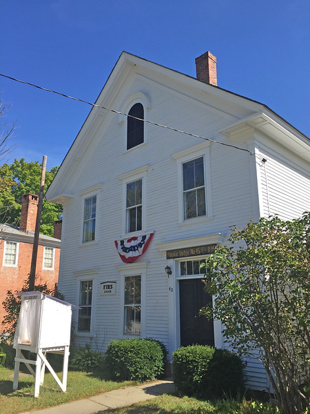 Francestown Improvement & Historical Society. Former Masonic Lodge. September 9, 2015.