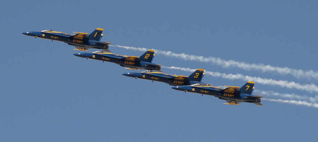 . March 19,2014. Lancaster CA. The US Navy Blue Angels do some warmup maneuvers at Fox field Wednesday afternoon. The Los Angels County air show with the Blue Angels will happen this Friday and Saturday at Fox Field.  Photo   by Gene Blevins/LA DailyNews