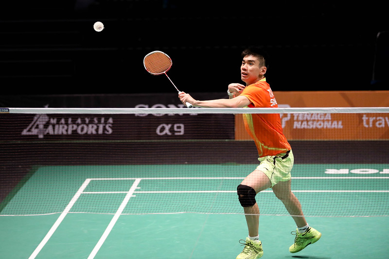 PARA BADMINTON - TAY WEI MING in action & representing Singapore in MS SU5 Group C Badminton at Bukit Jalil Badminton Court, KL on September 19th, 2017 (Photo by Sanketa Anand)