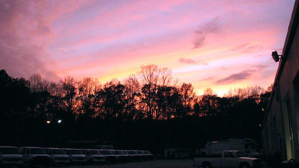 November 16:  A few evening pics from work .  .  .