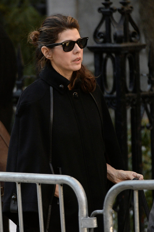 . US actress Marisa Tomei arrives for the Funeral Mass for US Actor Phillip Seymour Hoffman at St Ignatius Church in New York, New York, USA 07 February 2014. Hoffman, 46, died 02 February from a suspected drug overdose.  EPA/ANDREW GOMBERT