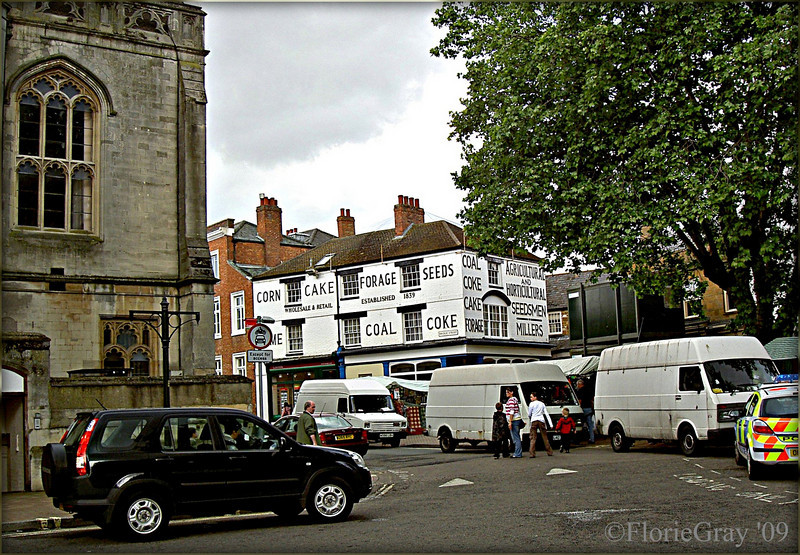 Street Corner, Banbury, UK  Busy Market Day--My favorite time to be in my favorite city