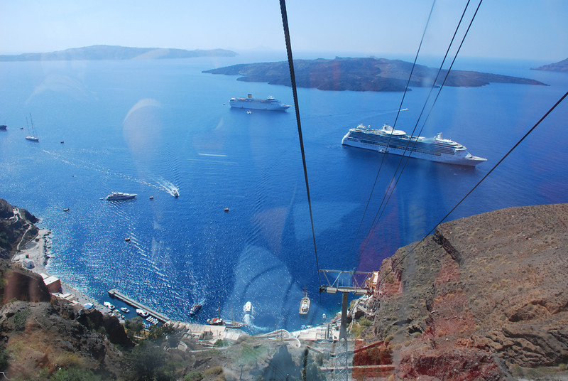 Cable Car at Fira on Santorini