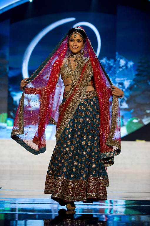 . Miss India 2012, Shilpa Singh, performs onstage at the 2012 Miss Universe National Costume Show on Friday, Dec. 14, 2012 at PH Live in Las Vegas, Nevada. The 89 Miss Universe Contestants will compete for the Diamond Nexus Crown on Dec. 19, 2012. (AP Photo/Miss Universe Organization L.P., LLLP)