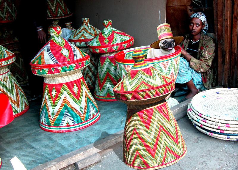 BASKET WEAVERS - ADDIS ABABA, ETHIOPIA