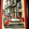 "ART  -  4""x7"" – Havana Cuban Watercolor – classic '50's scene – 2004"