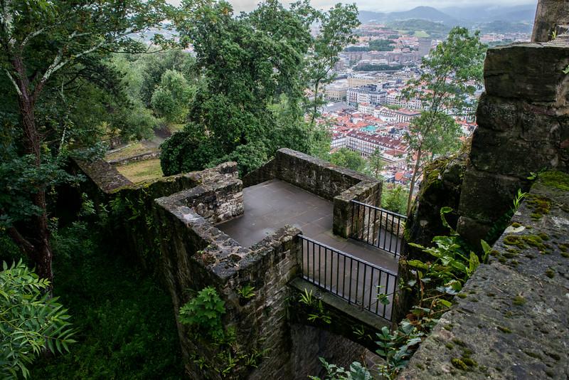 Castillo overlooking Old Town San Sebastian