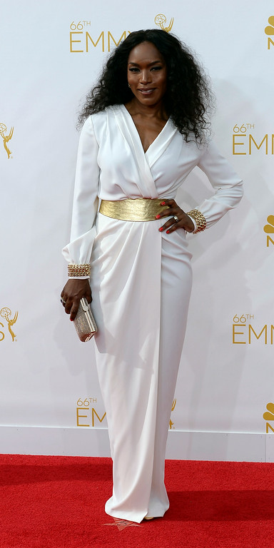 . Angela Bassett on the red carpet at the 66th Primetime Emmy Awards show at the Nokia Theatre in Los Angeles, California on Monday August 25, 2014. (Photo by John McCoy / Los Angeles Daily News)