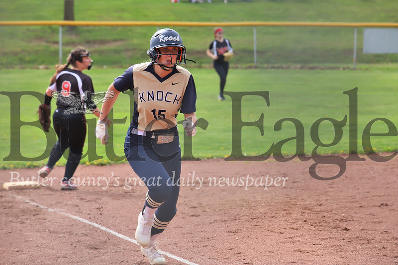 Knoch #15 vs New Castle running on third out, did not score. Seb Foltz/Butler Eagle