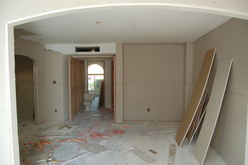 Master bedroom. What's that toilet doing in the hall?