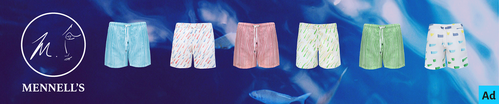 Mennell's Swimwear Swimming Shorts Advert for Celebrity WotNot