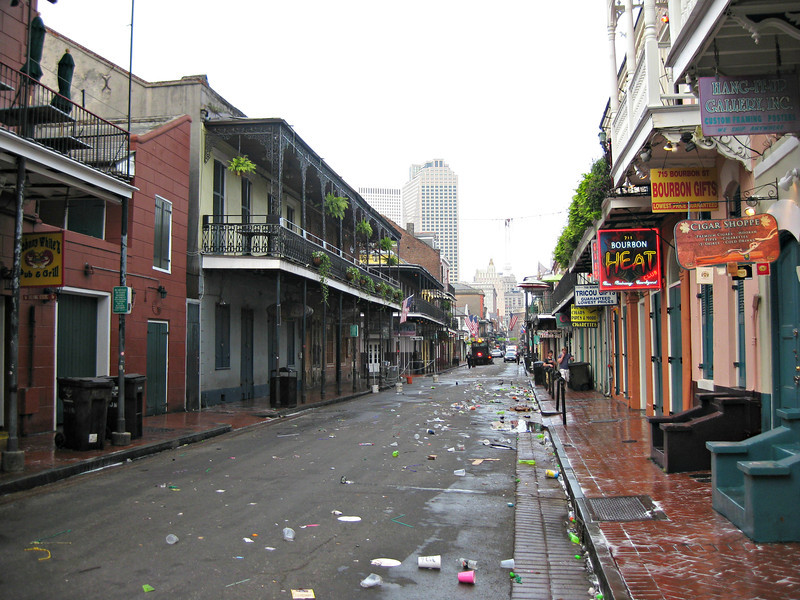 """""""Cleaning the effects of Bourbon"""" - Daily Photo - 01/01/13  Happy New Year!  Bourbon Street, New Orleans, Louisiana"""