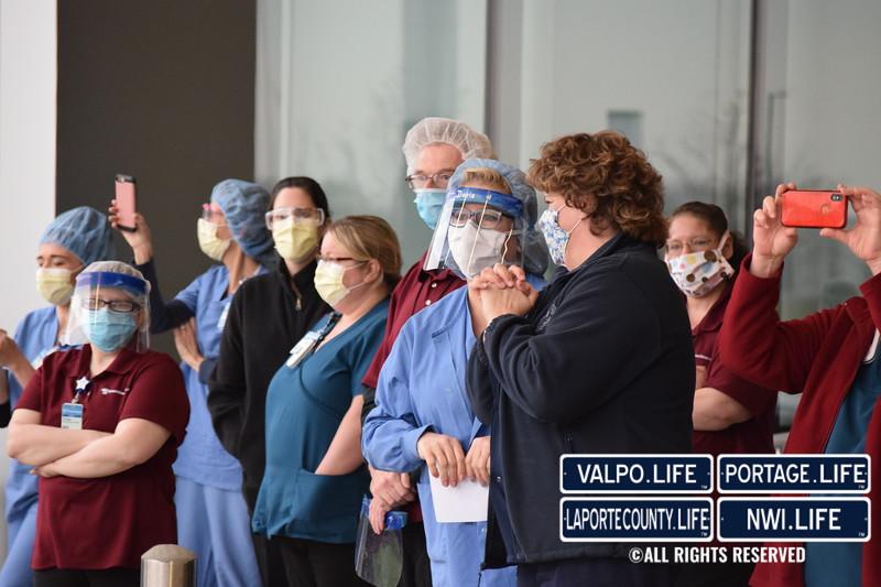 La Porte County First Responders Honor Hospital Staff