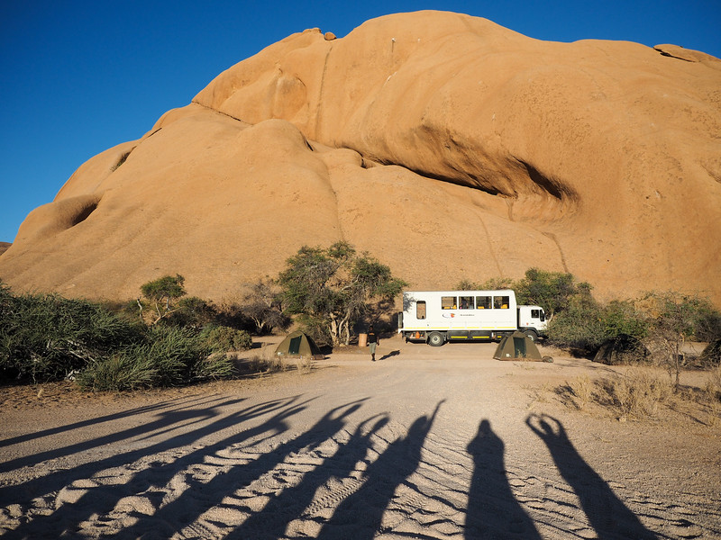 Camping in Spitzkoppe, Namibia
