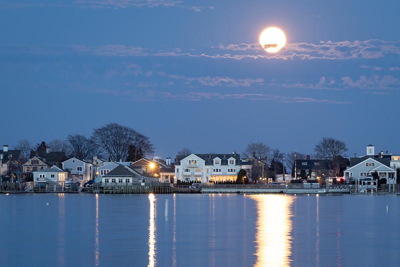 Super-moon Rise over Stonington #2