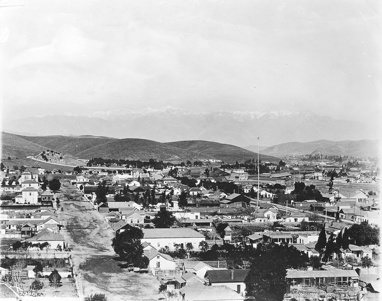 1885, View of Sonora Town from Fort Hill