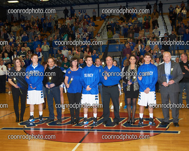 QHS Basketball Senior Night 2015