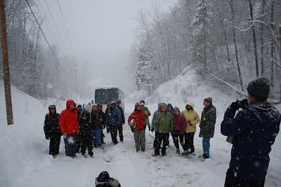 20-2-2013 Raquette au Saguenay, Jour 2 (Monts-Valin manqué)