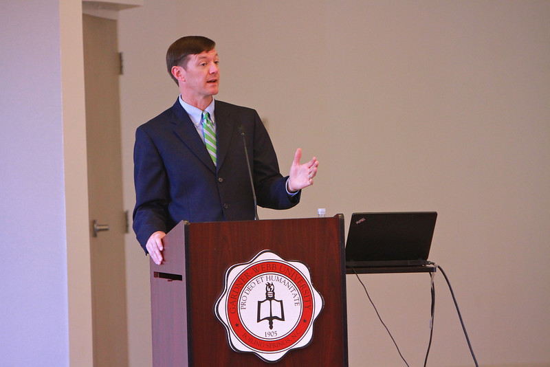 Godbold School of Business – Broyhill School of Management Executive Day in Blanton Auditorium, Hamrick Hall, featuring keynote speaker Matthew Martin, executive vice president of the Federal Reserve Bank of Richmond, the Charlotte branch.