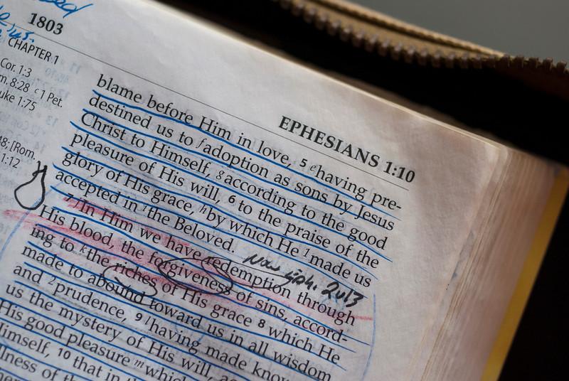NKJV Bible w/markup