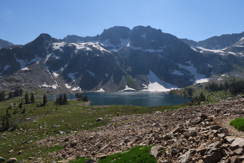 Leaving Lake Solitude - Heading up the trail to Paintbrush Divide.