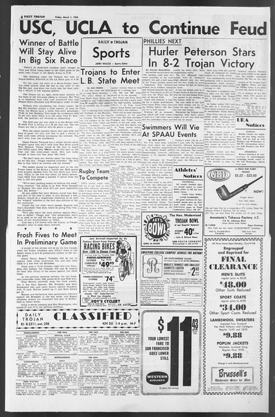 Daily Trojan, Vol. 54, No. 73, March 01, 1963