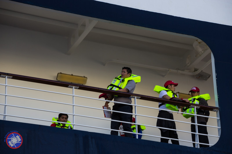 Crew Participating in a Safety Drill on the Westerdam (©simon@myeclecticimages.com)
