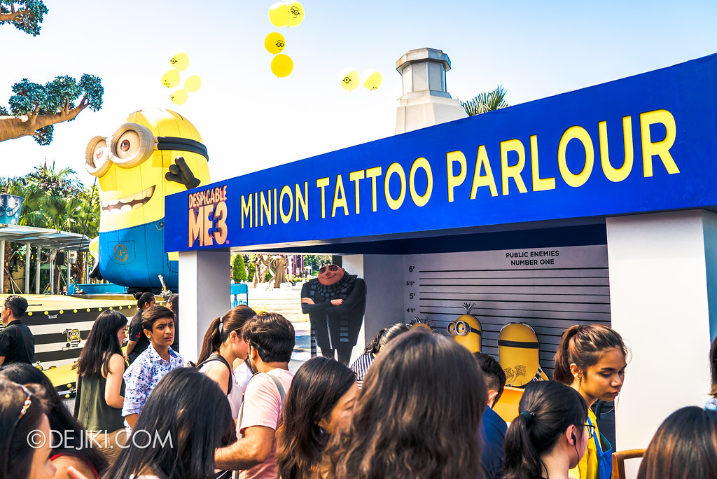 Despicable Me Breakout Party at Universal Studios Singapore / Minion Tattoo Parlour