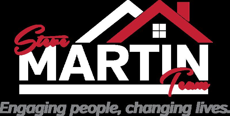 SteveMartinTeam_Logo_PMS200-WHT_GrayTagline.png