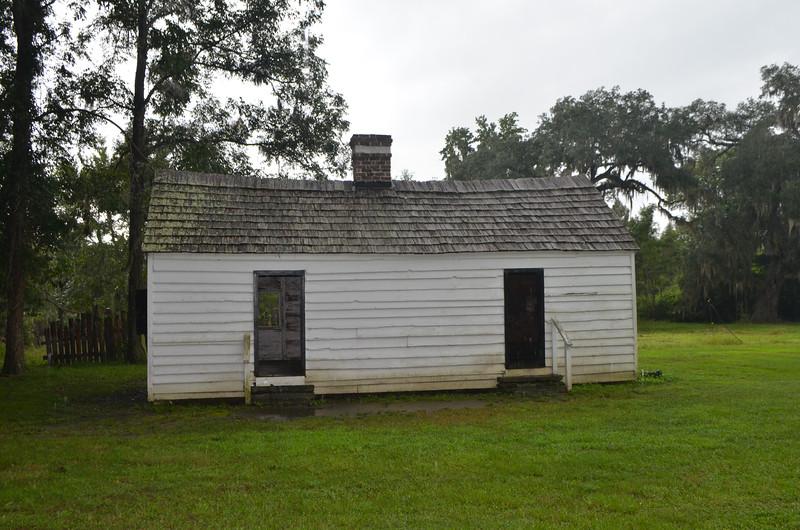 Slave house on the plantation.