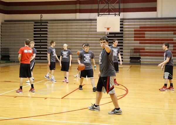 SNHS Boys Basketball vs Faculty 2013