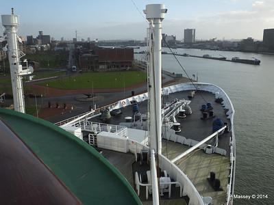 ss ROTTERDAM Bridge Deck & Mast Jan 2014