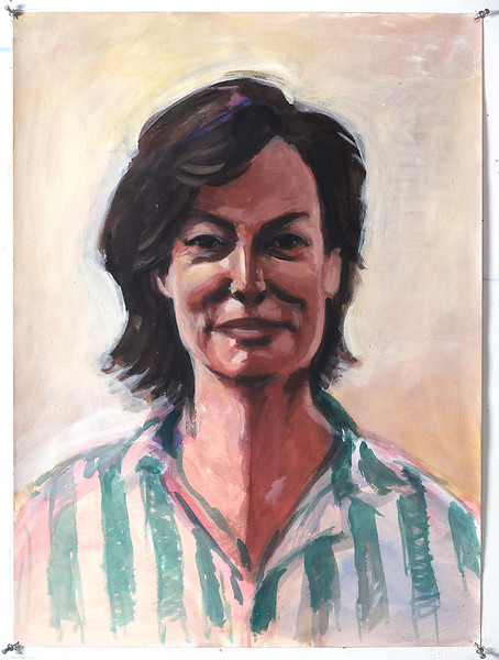 Portrait study - Georgia C; acrylic on paper, 22 x 30 in, 2000
