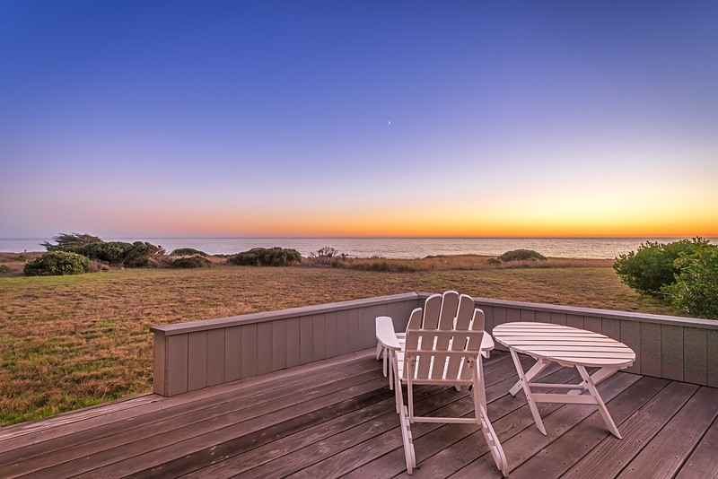 Back Deck with Sunset Views