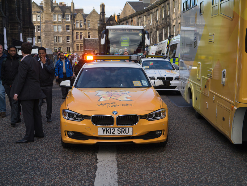 One of the torch cars